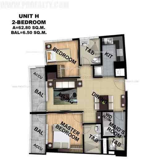 Unit H 2 Bedroom