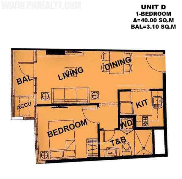Typical Unit D 1 Bedroom