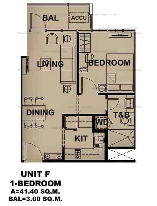 Unit F 1 Bedroom