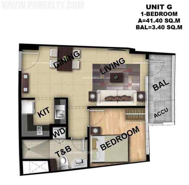 Typical Unit G 1 Bedroom