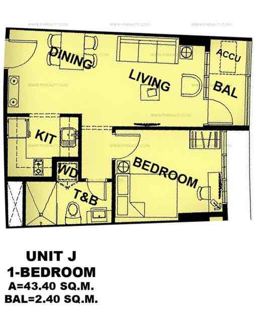 Unit J 1 Bedroom