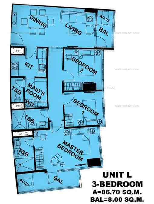 Unit L 3 Bedroom