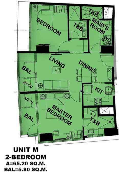Unit M 2 Bedroom