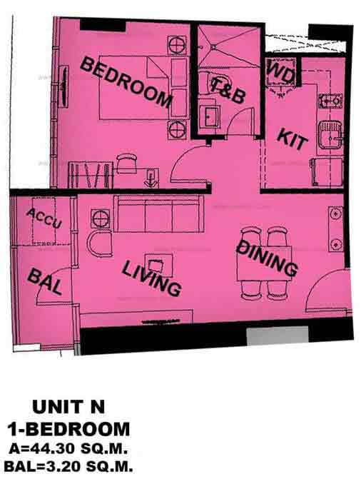 Unit N 1 Bedroom