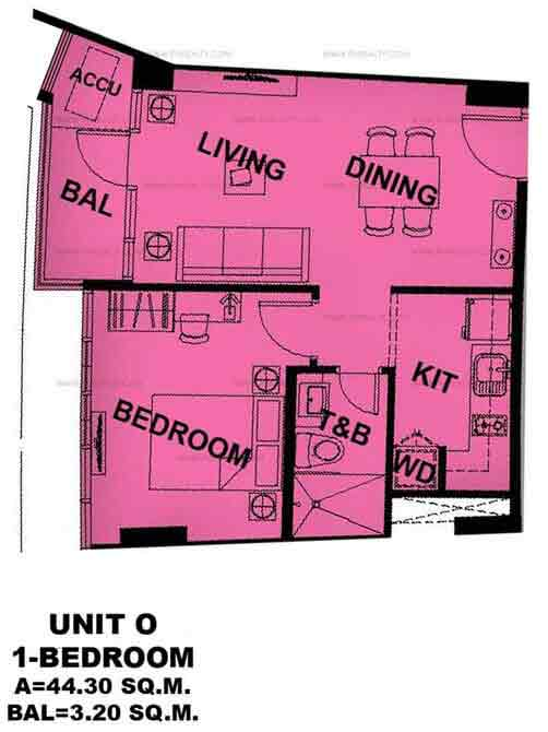 Unit O 1 Bedroom