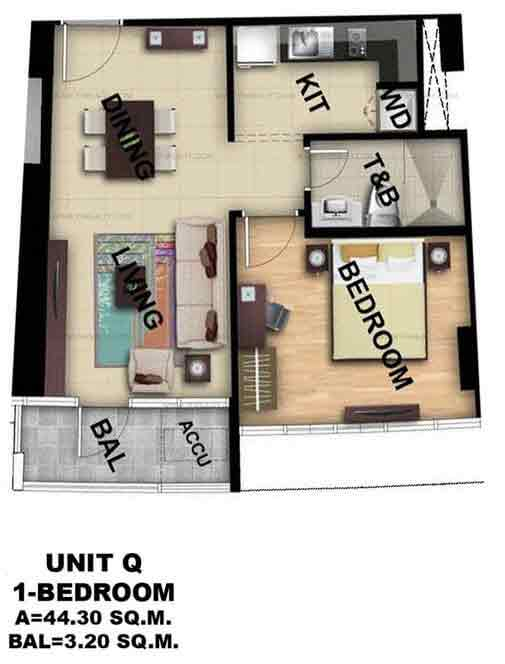Unit Q 1 Bedroom