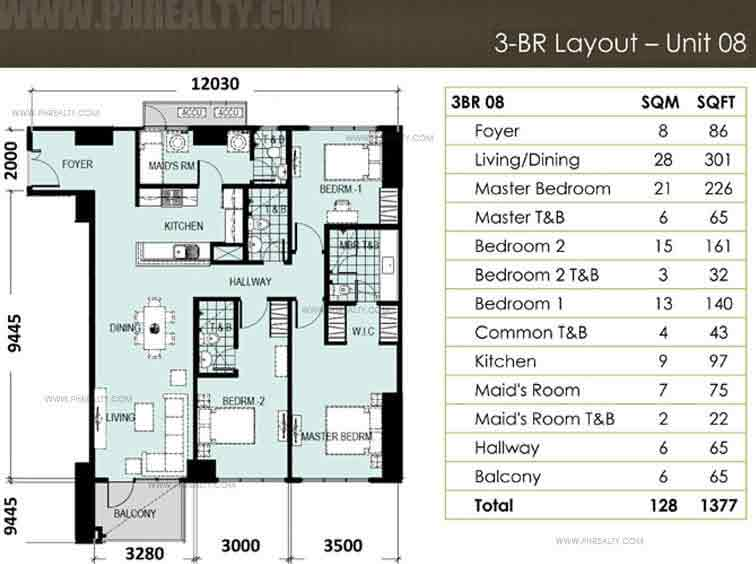 Unit 8, 3 - Bedroom