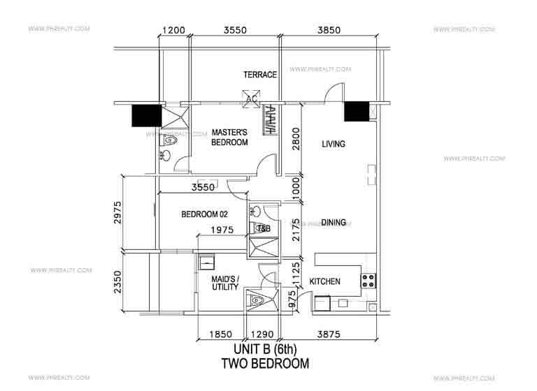 Unit B -Two Bedroom