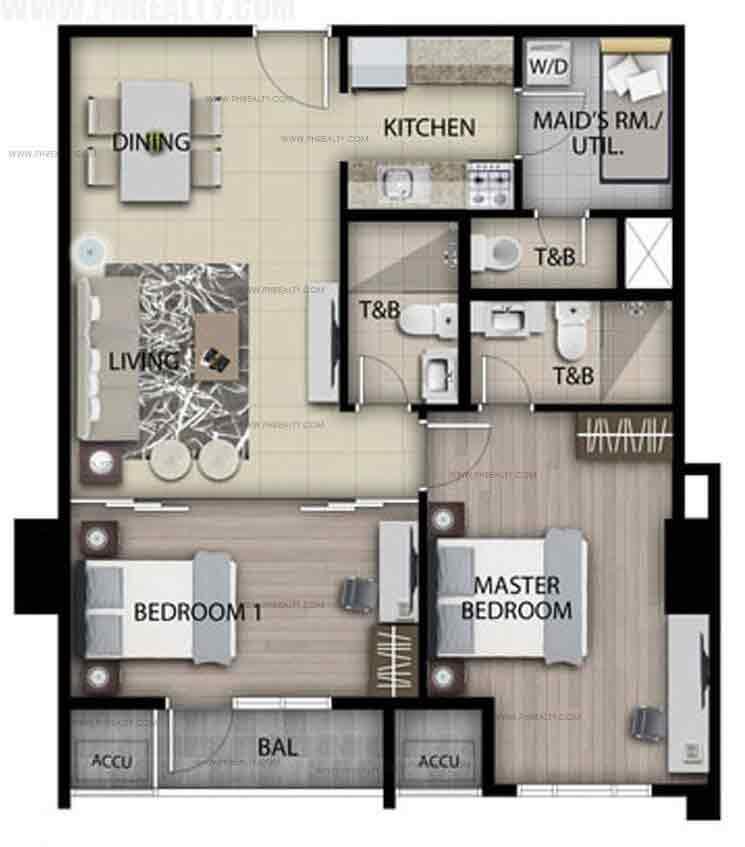 Unit C - Two Bedroom Unit