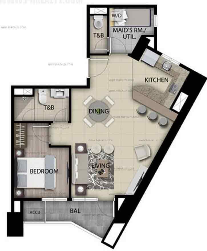 Unit D - One Bedroom
