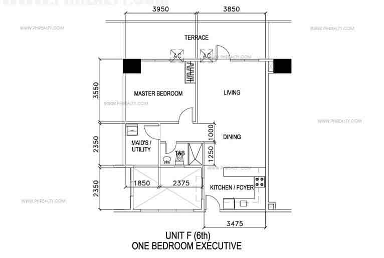 Unit F- One Bedroom Executive