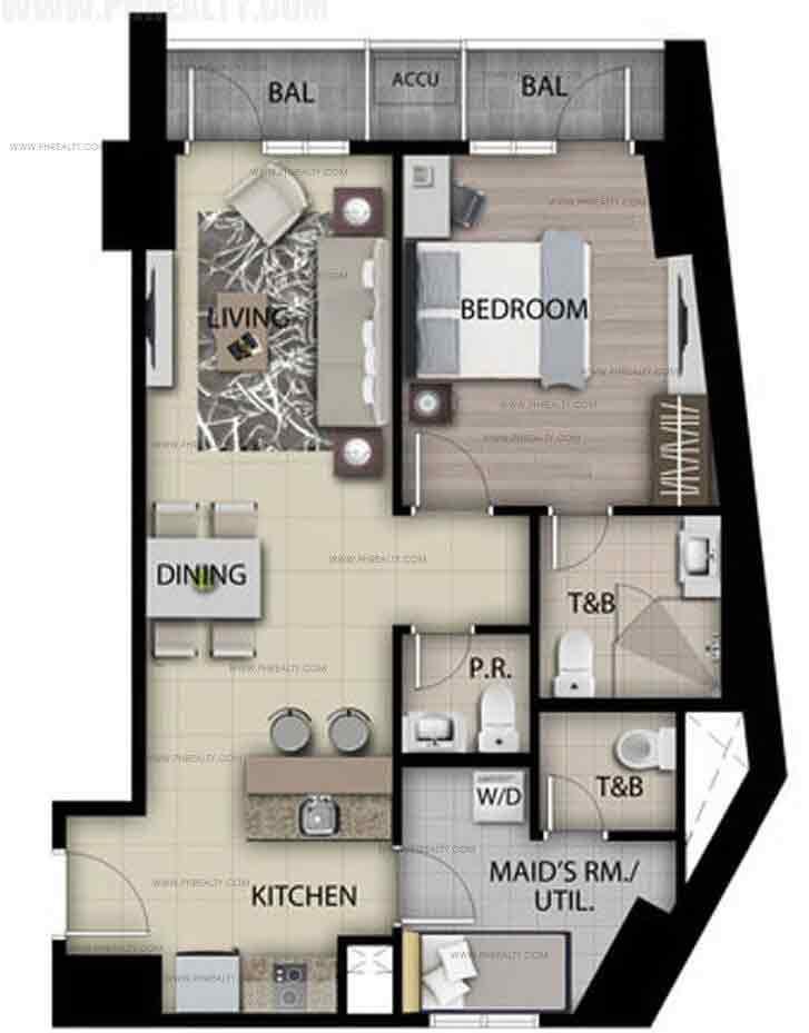 Unit F - One Bedroom