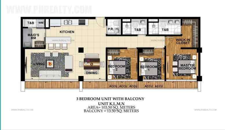 Unit K,L,M,N 3 Bedroom