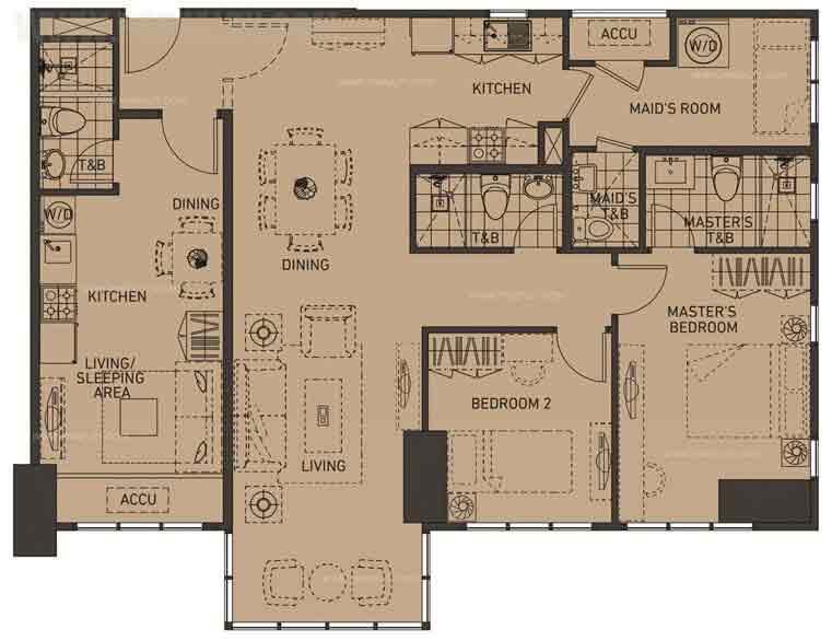 Unit Plan 3BR Twin Flat