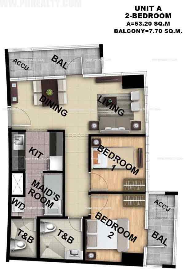 Unit A 2 - Bedroom