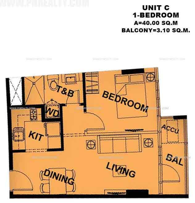 Unit C 1 - Bedroom