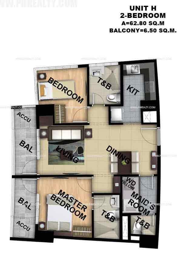 Unit H 2 - Bedroom