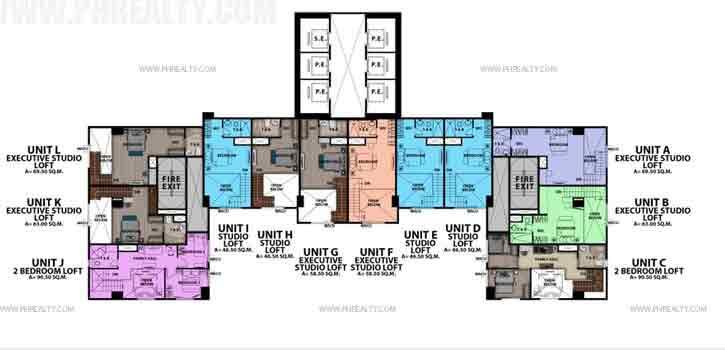 Upper Loft Floor Plan