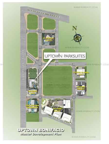 Uptown Parksuites Location