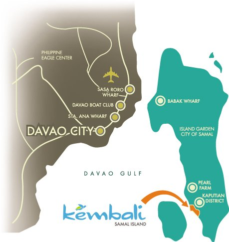 Kembali Coast Davao Location