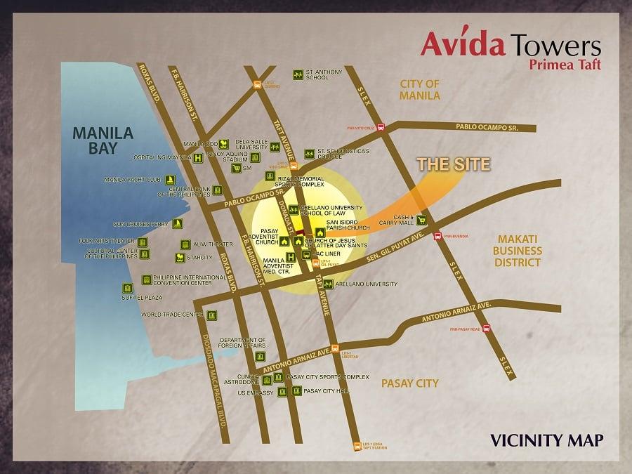Avida Towers Prime Taft Location
