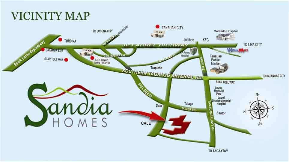 Filinvest Sandia Homes Location