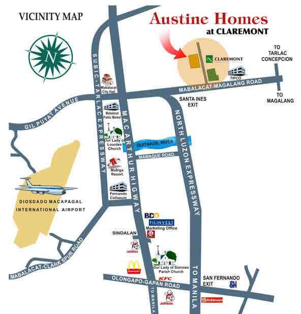 Austin Homes Claremont Location