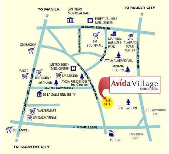 Avida Village Santa Cecilia Location