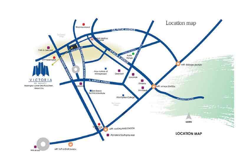 Victoria de Makati Location