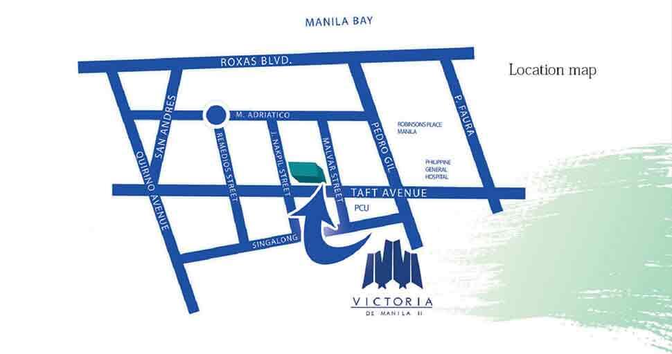Victoria de Manila Location