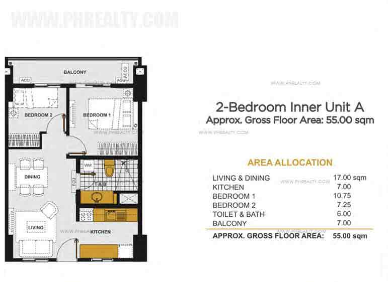 2 - Bedroom Inner Unit A