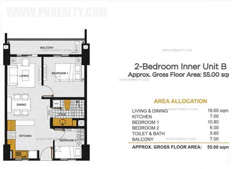 2 - Bedroom Inner Unit B