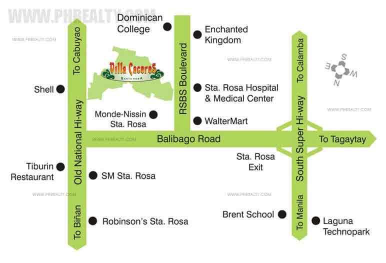 Villa Caceres Location