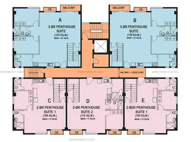 5th Typical Floor Plan