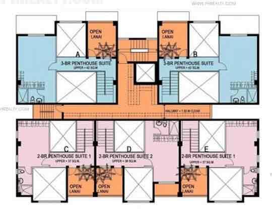 Upper Floor Typical Floor Plan