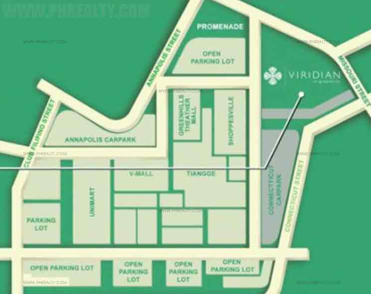 The Viridian At Greenhills Location