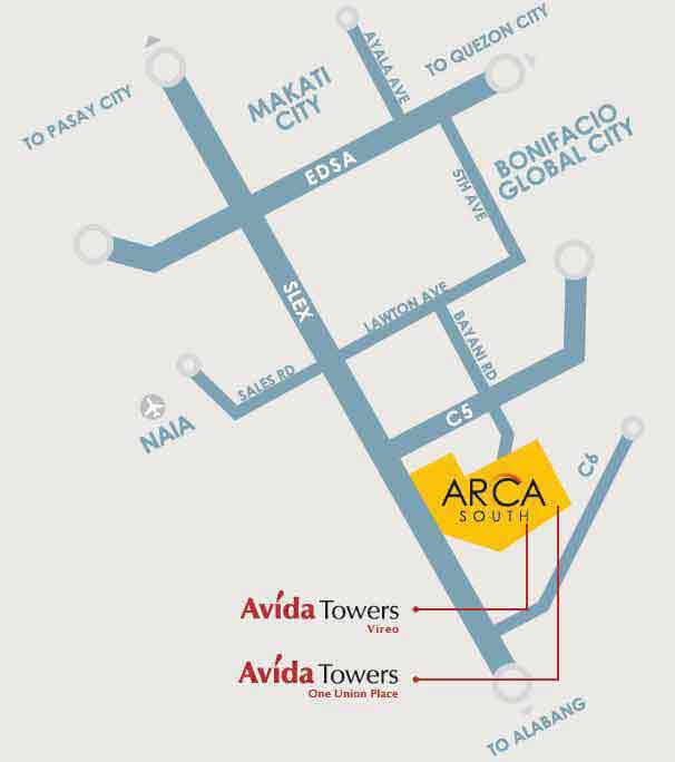 Avida Towers Vireo Location