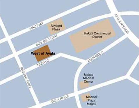 West of Ayala Location