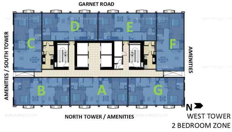 West Tower 2 Bedroom Zone
