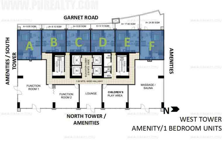 West Tower Amenity 1 Bedroom Unit