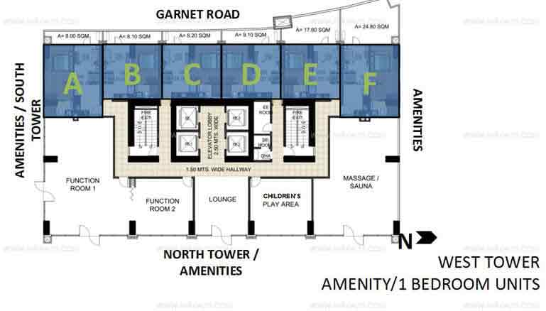 West Tower Amenity 1 Bedroom Units