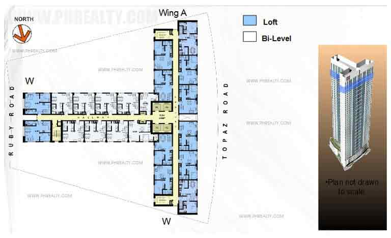 40th-42nd Floor Plan